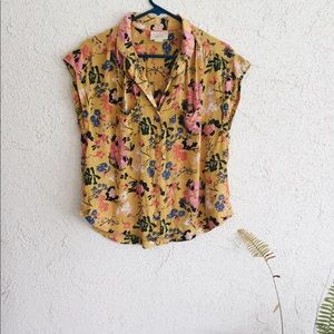 Anthropologie | Maeve floral button up blouse